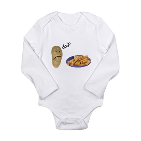 Potato French Fries Dad Long Sleeve Infant Bodysui