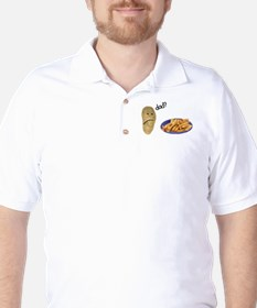 Potato French Fries Dad Golf Shirt