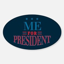 For President 3_Oval Decal