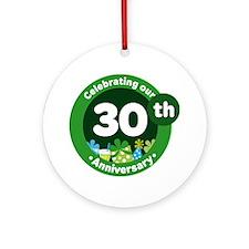 30th Anniversary Celebration Gift Ornament (Round)