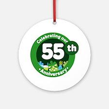 55th Anniversary Celebration Gift Ornament (Round)