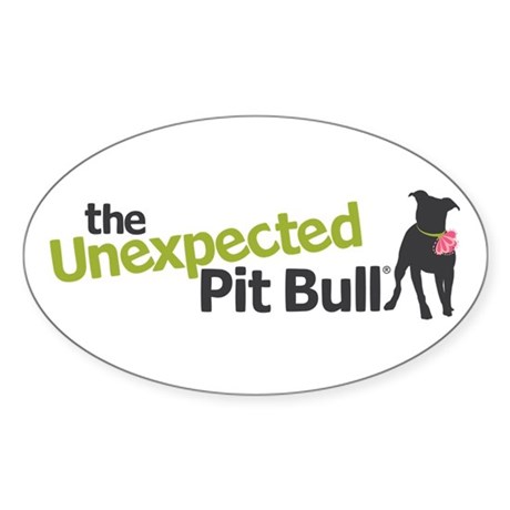 The Unexpected Pit Bull Sticker (Oval)