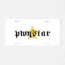 PWN*STAR Aluminum License Plate