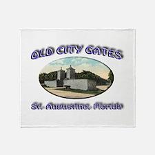 Old City Gates Throw Blanket
