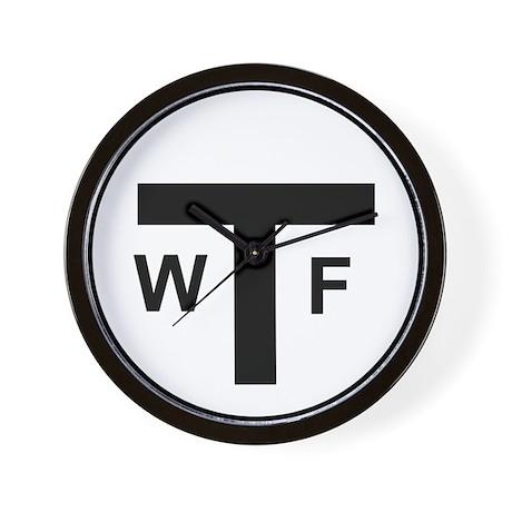 WTF MBTA Wall Clock