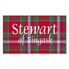 Tartan - Stewart of Fingask Sticker (Rectangle)