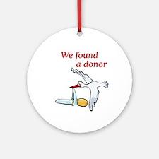 Donor Found Stork Ornament (Round)