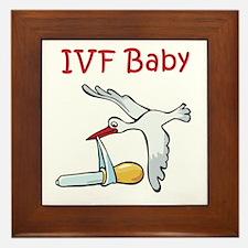 IVF Stork Framed Tile