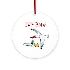 IVF Stork Ornament (Round)