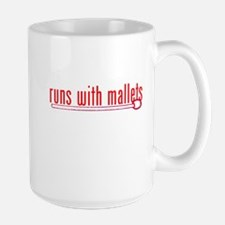 funny mallet Large Mug