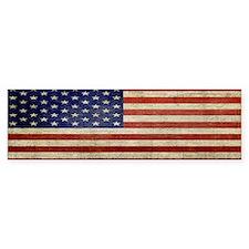 Distressed Flag v2 Bumper Sticker