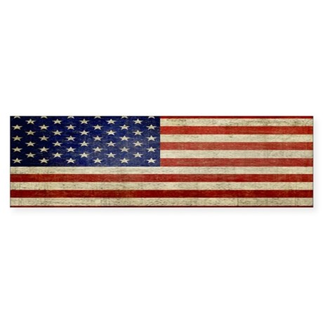 Distressed Flag v2 Sticker (Bumper)