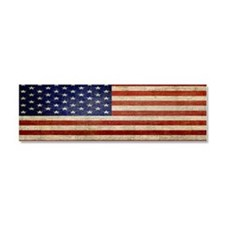 Distressed Flag v2 Car Magnet 10 x 3