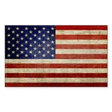Distressed Flag v2 Bumper Stickers
