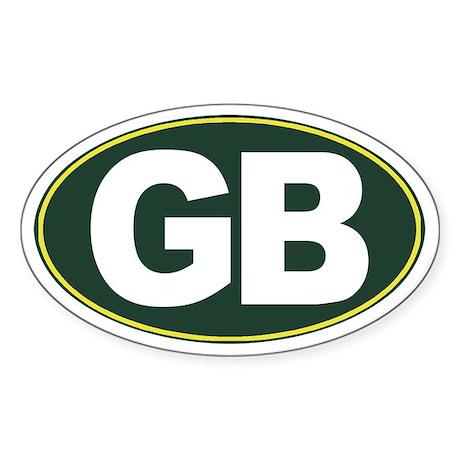 GB - Green Bay - Sticker (Oval)