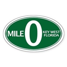 Mile 0 - Mile Zero - Key West, FL - Decal