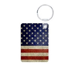 Distressed Flag v2 Keychains
