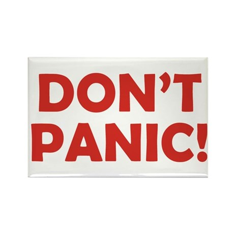 Don't Panic! Rectangle Magnet