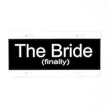 Bride Aluminum License Plate
