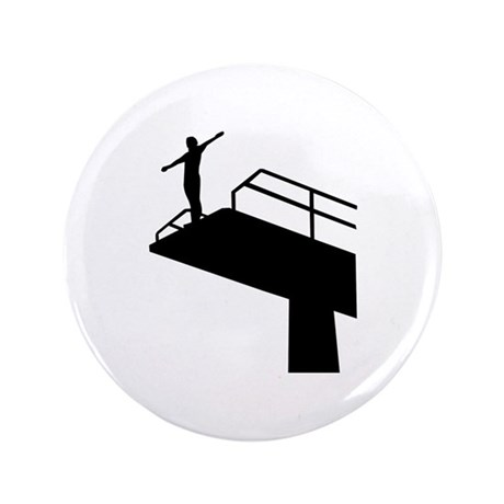 """High diving 3.5"""" Button (100 pack)"""