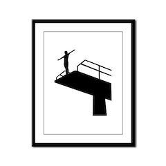 High diving Framed Panel Print