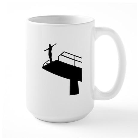High diving Large Mug