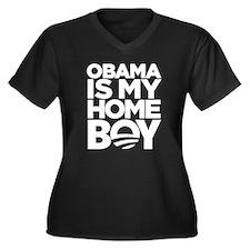 Obama Homeboy Women's Plus Size V-Neck Dark T-Shir
