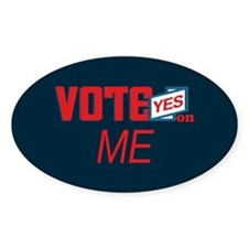 Vote Yes 1_oval Decal