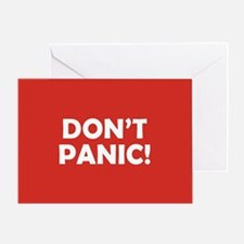 Don't Panic! Greeting Card