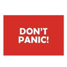 Don't Panic! Postcards (Package of 8)