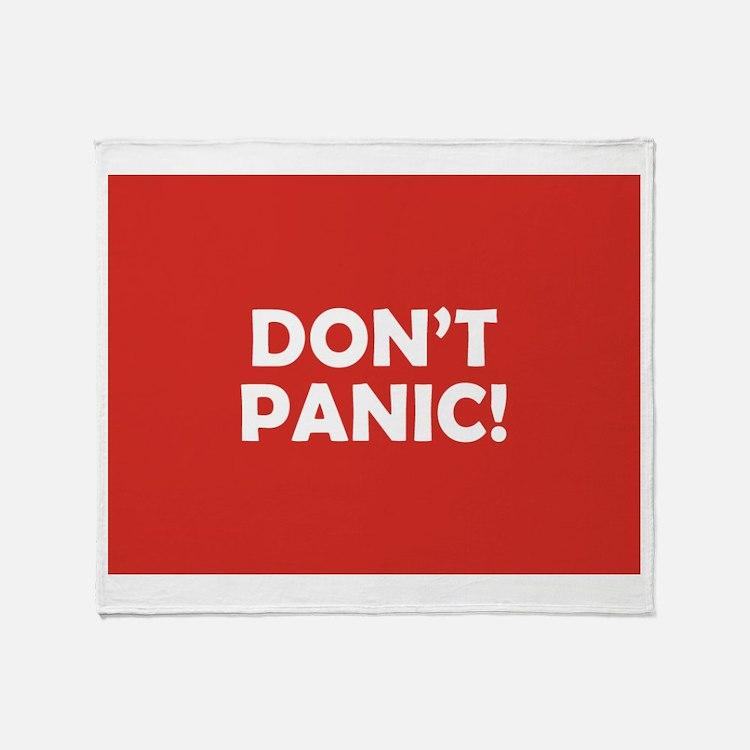 Don't Panic! Throw Blanket