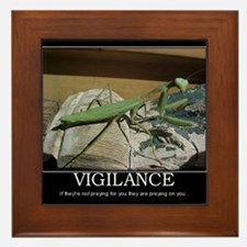 preying mantis Framed Tile