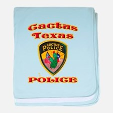 Cactus Police baby blanket
