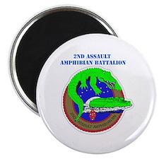 2nd Assault Amphibian Battalion with Text Magnet