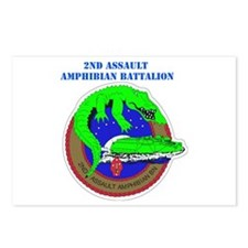 2nd Assault Amphibian Battalion with Text Postcard