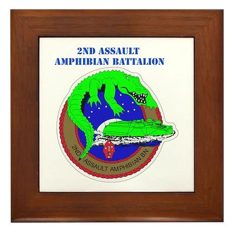 2nd Assault Amphibian Battalion with Text Framed T