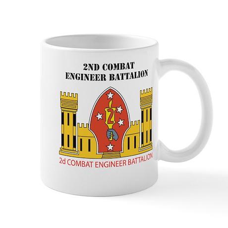 2nd Combat Engineer Battalion with Text Mug