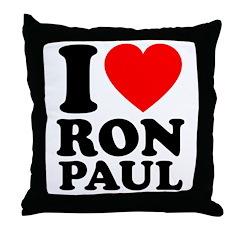 I Love Ron Paul Throw Pillow