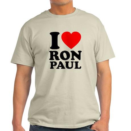 I Love Ron Paul Light T-Shirt