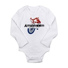 Amsterdam Bicycle Long Sleeve Infant Bodysuit