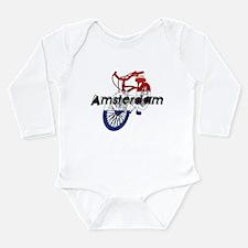 Amsterdam Bicycle Long Sleeve Infant Bodysuit