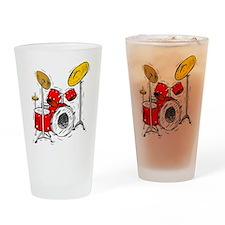 DRUM SET (4) Drinking Glass