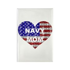 NAVY MOM HEART Rectangle Magnet