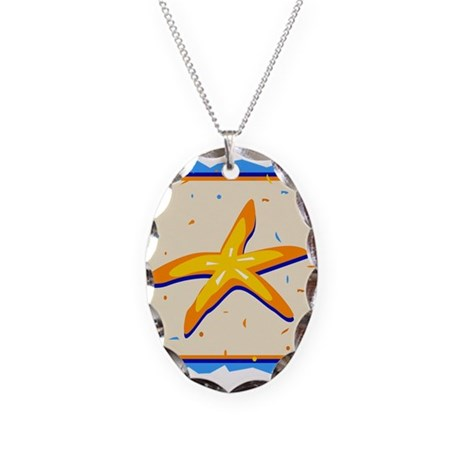 STARFISH *3* Necklace Oval Charm