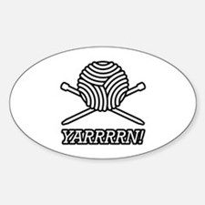 Yarn Pirate Sticker (Oval)