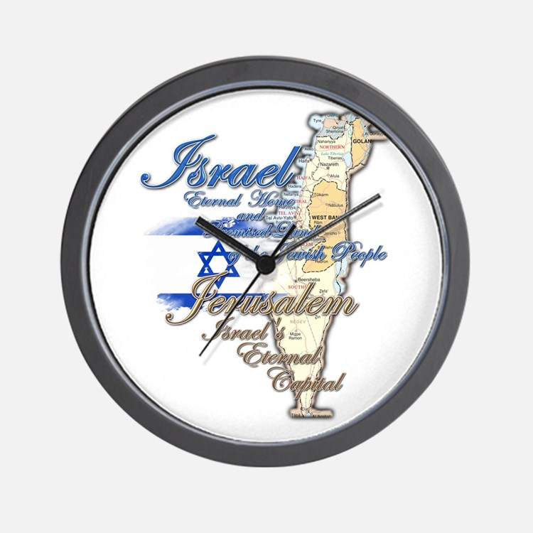 Israel, Jerusalem - Wall Clock