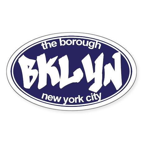 Brooklyn NYC - Oval Sticker