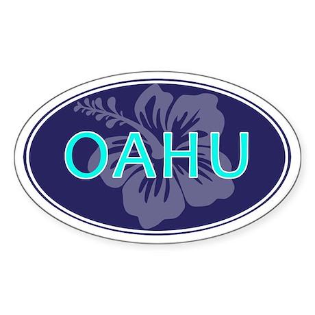 OAHU - Sticker (Oval)