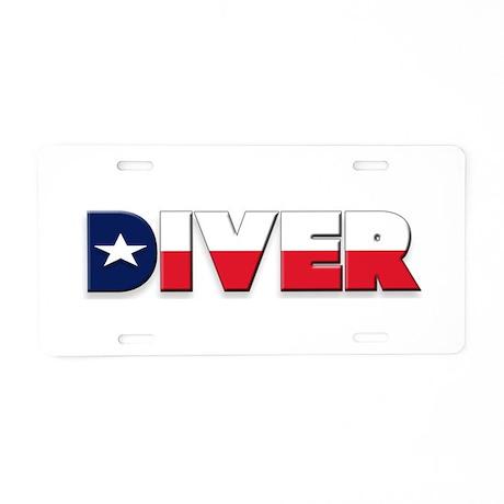 Diver: TEXAS Aluminum License Plate