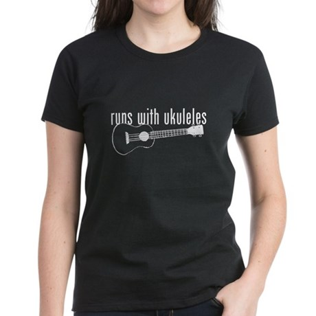 funny ukulele Women's Dark T-Shirt